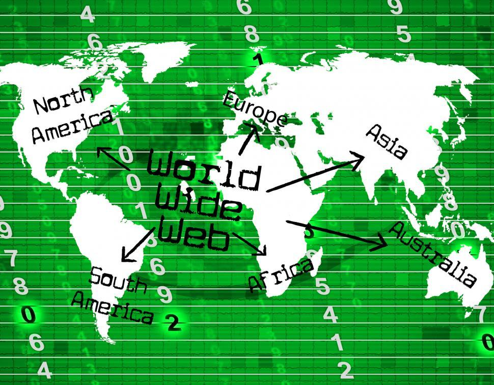 Download Free Stock HD Photo of World Wide Web Indicates Internet Net And Planet Online