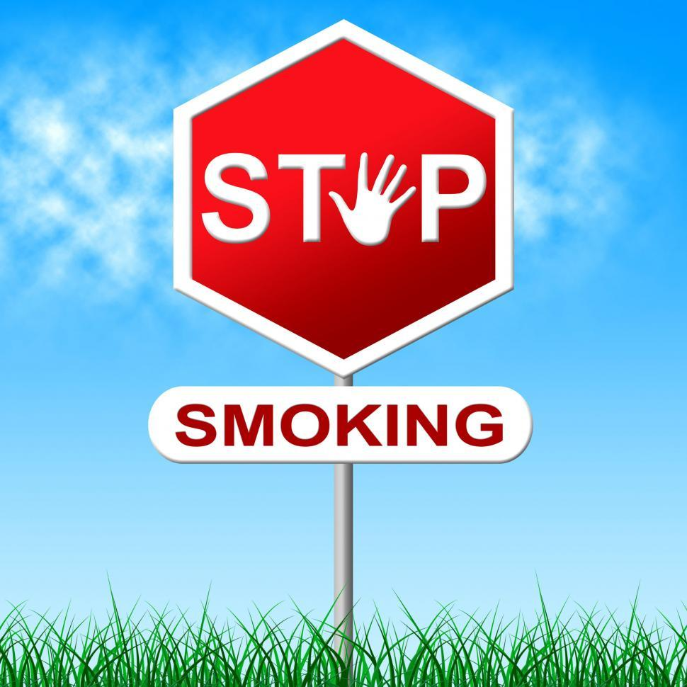 Download Free Stock HD Photo of No Smoking Represents Warning Sign And Danger Online