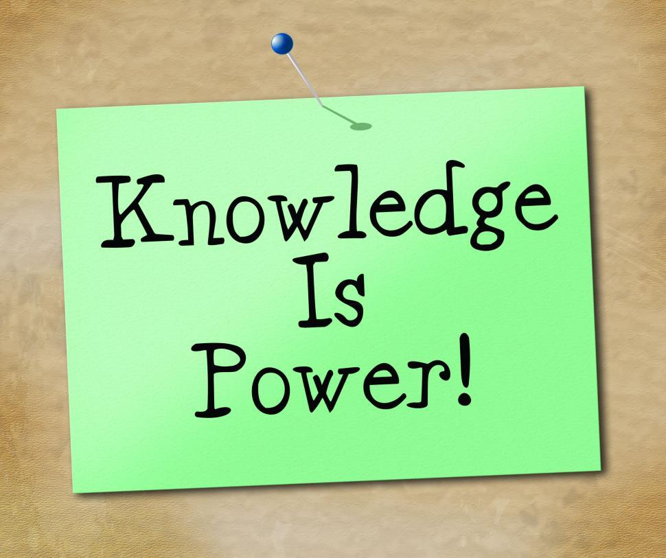 Download Free Stock HD Photo of Knowledge Is Power Shows University Educate And Learn Online