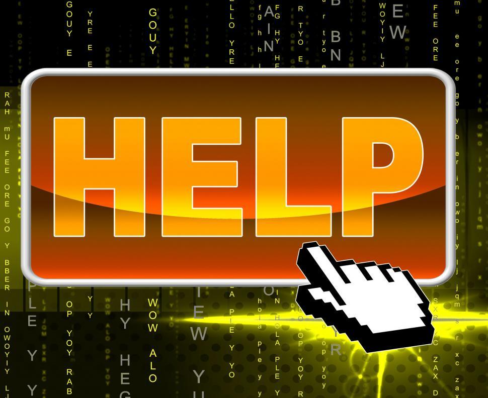 Download Free Stock HD Photo of Help Button Represents World Wide Web And Advice Online