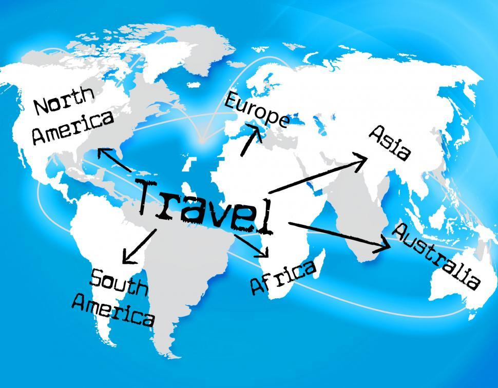 Download Free Stock Photo of Worldwide Travel Represents Traveller Globally And Journey
