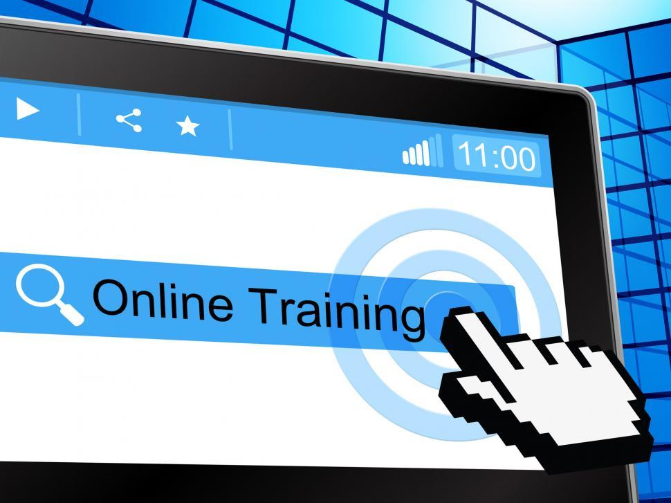 Download Free Stock Photo of Online Training Shows World Wide Web And College