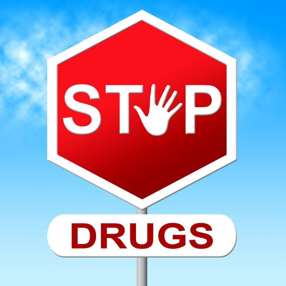 Download Free Stock Photo of Drugs Stop Indicates Forbidden Addicted And Rehab