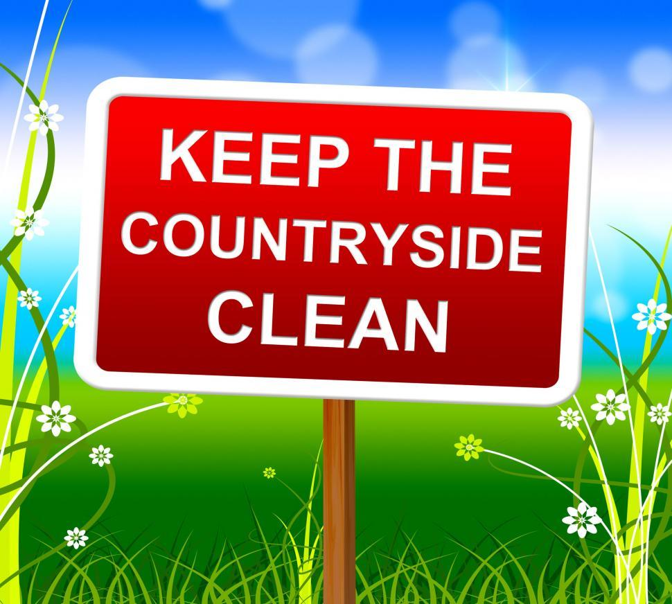 Download Free Stock Photo of Keep Countryside Clean Means Environment Untouched And Natural