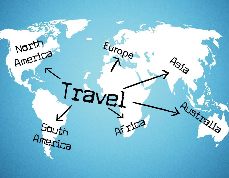 Download Free Stock Photo of Worldwide Travel Means Tours Voyage And Traveller