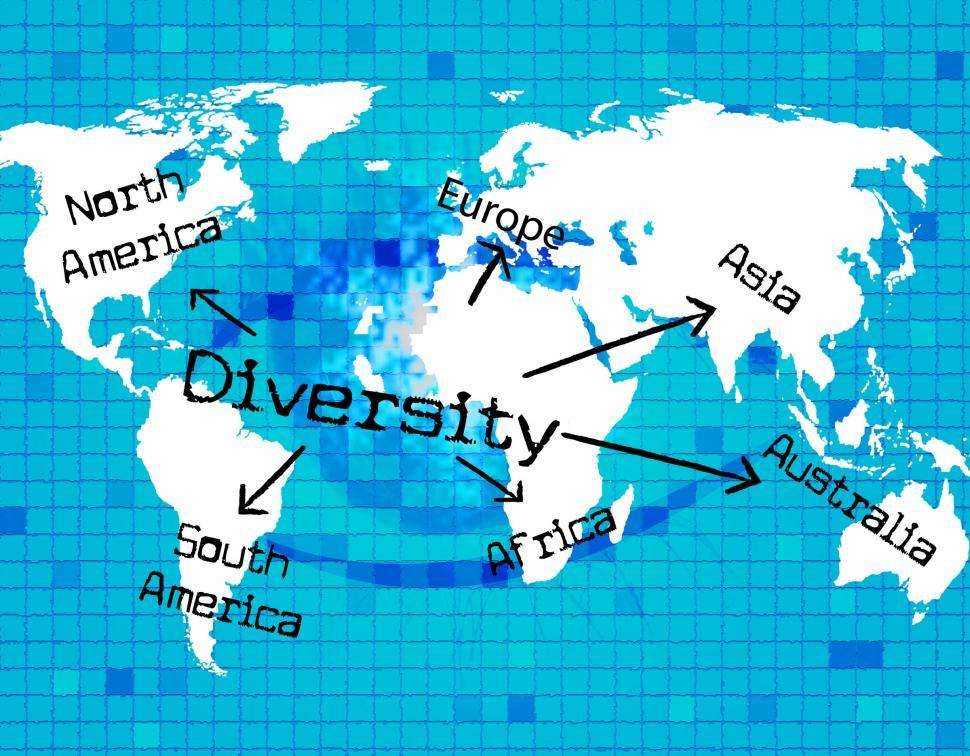 Download Free Stock HD Photo of World Diversity Indicates Mixed Bag And Variation Online