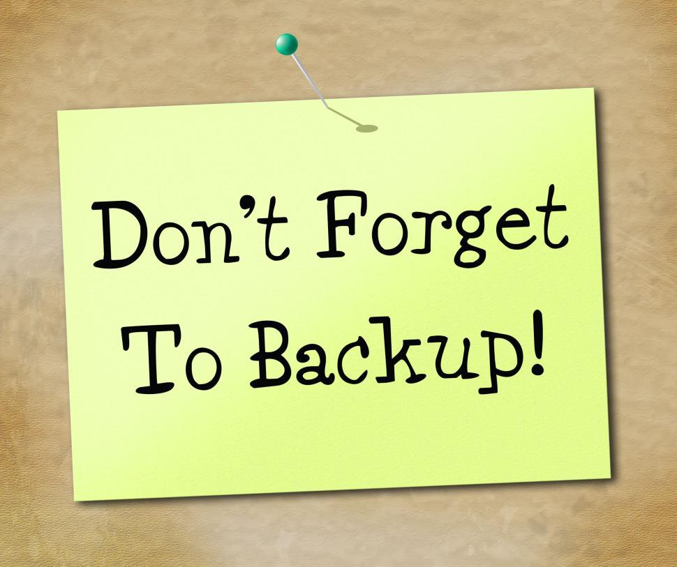Download Free Stock HD Photo of Backup Data Shows File Transfer And Archives Online