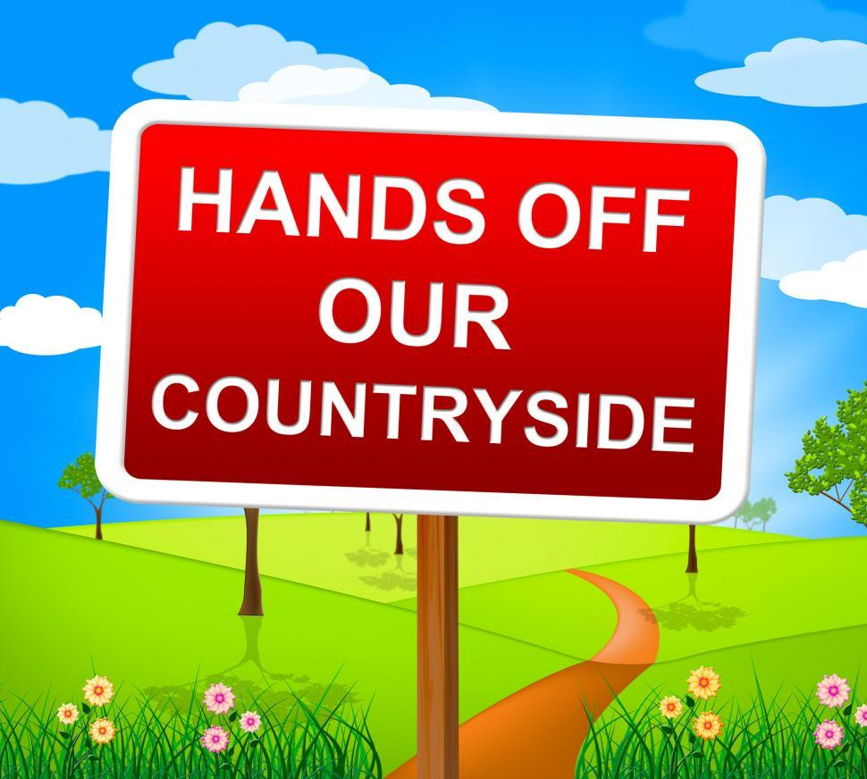 Download Free Stock Photo of Hands Off Countryside Represents Go Away And Picturesque