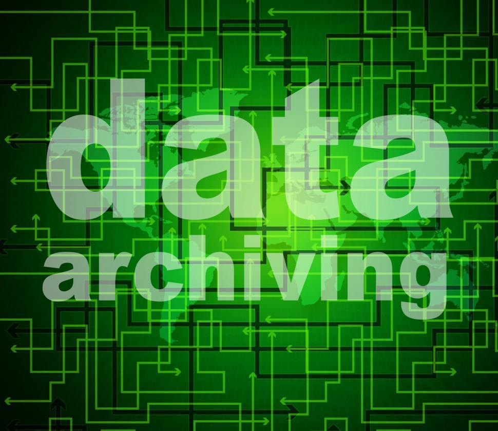 Download Free Stock HD Photo of Data Archiving Shows Library Catalog And Backup Online