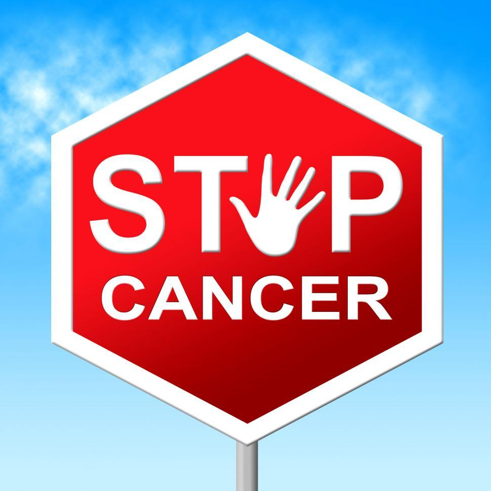 Download Free Stock Photo of Cancer Stop Means Warning Sign And Cancers