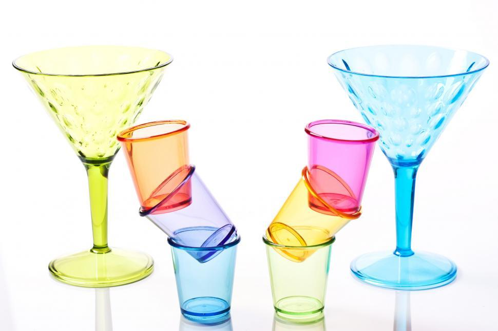 Download Free Stock HD Photo of Colored plastic glasses Online