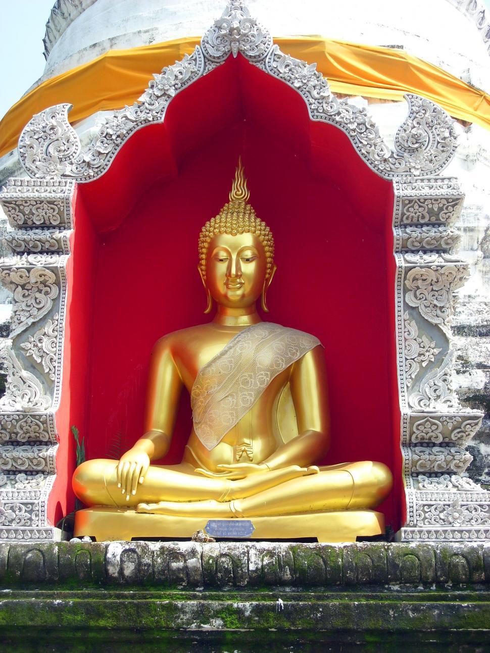 Download Free Stock Photo of Buddha in Pagoda