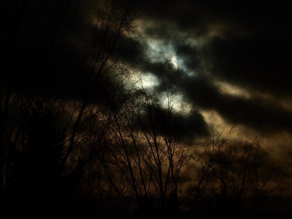 Download Free Stock HD Photo of Dark sun and dark clouds Online