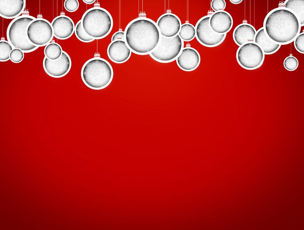 Download Free Stock HD Photo of Christmas balls with delicate snowflakes - Xmas card with copysp Online