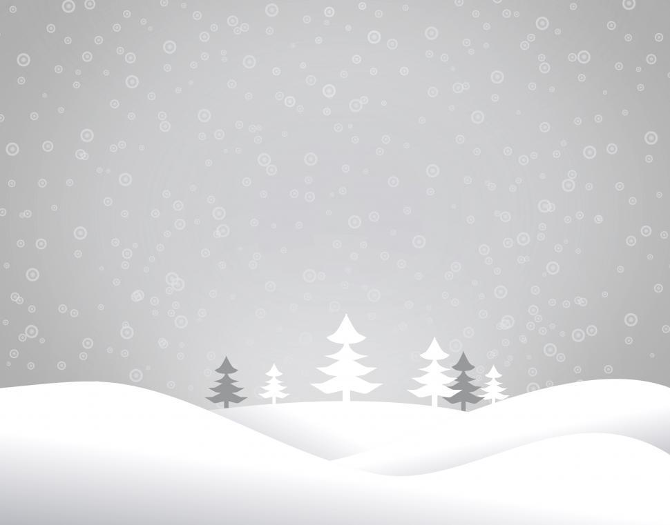 Download Free Stock HD Photo of Christmas snowy landscape - Xmas postcard with copyspace Online