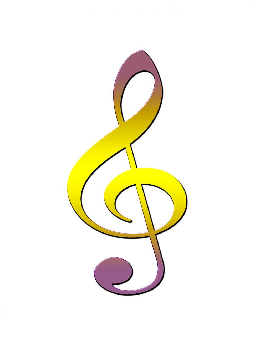 Download Free Stock Photo of Treble clef