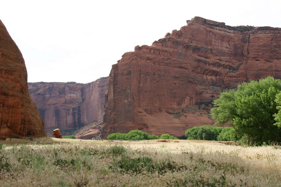 Download Free Stock Photo of cliff cliffs canyon de chelly chelly canyon de arizona indian native american monument national navajo southwest field grassland grasslands floor dramatic landscape