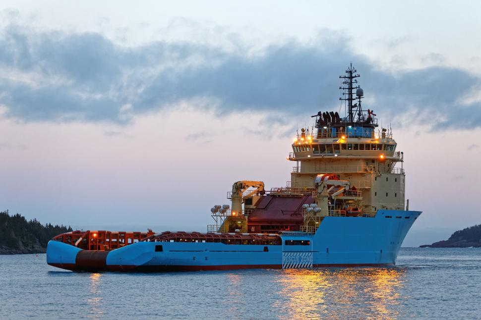 Download Free Stock Photo of Offshore supply vessel