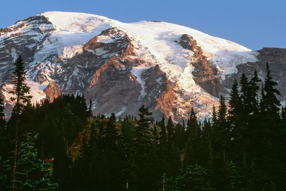 Download Free Stock Photo of Sunrise, Mt. Rainier