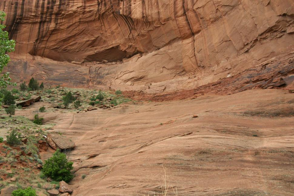 Download Free Stock Photo of cliff cliffs canyon de chelly chelly canyon de arizona indian native american monument national navajo southwest overhang strata erosion eroded ruins ancient