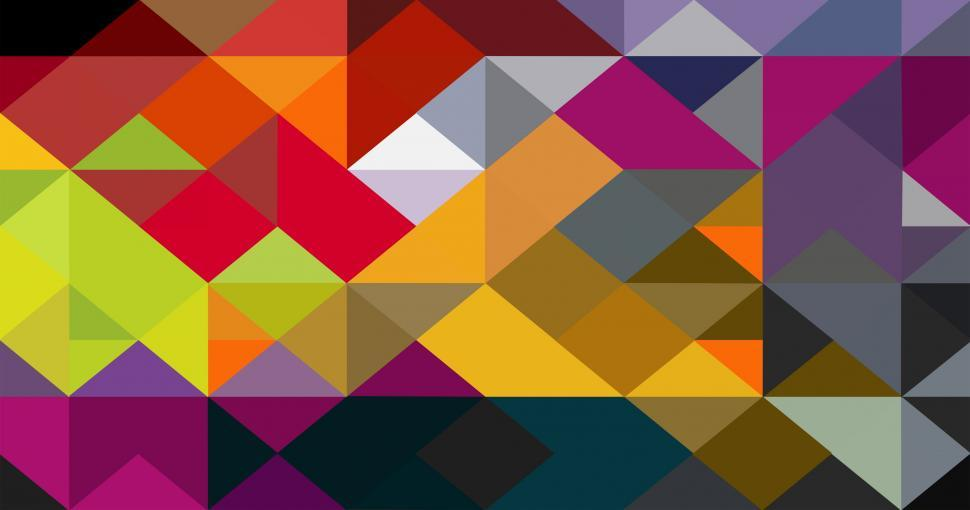 Download Free Stock Photo of Colorful abstract triangle pattern