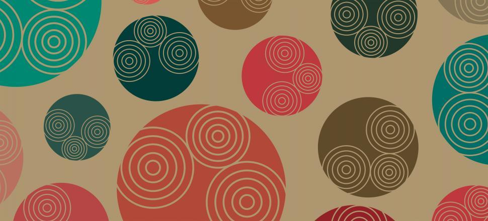 Download Free Stock HD Photo of Retro-styled 70s background pattern Online