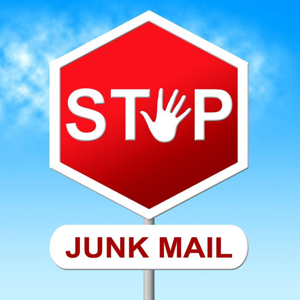 Download Free Stock Photo of Stop Junk Mail Represents E-Mail Control And Spam