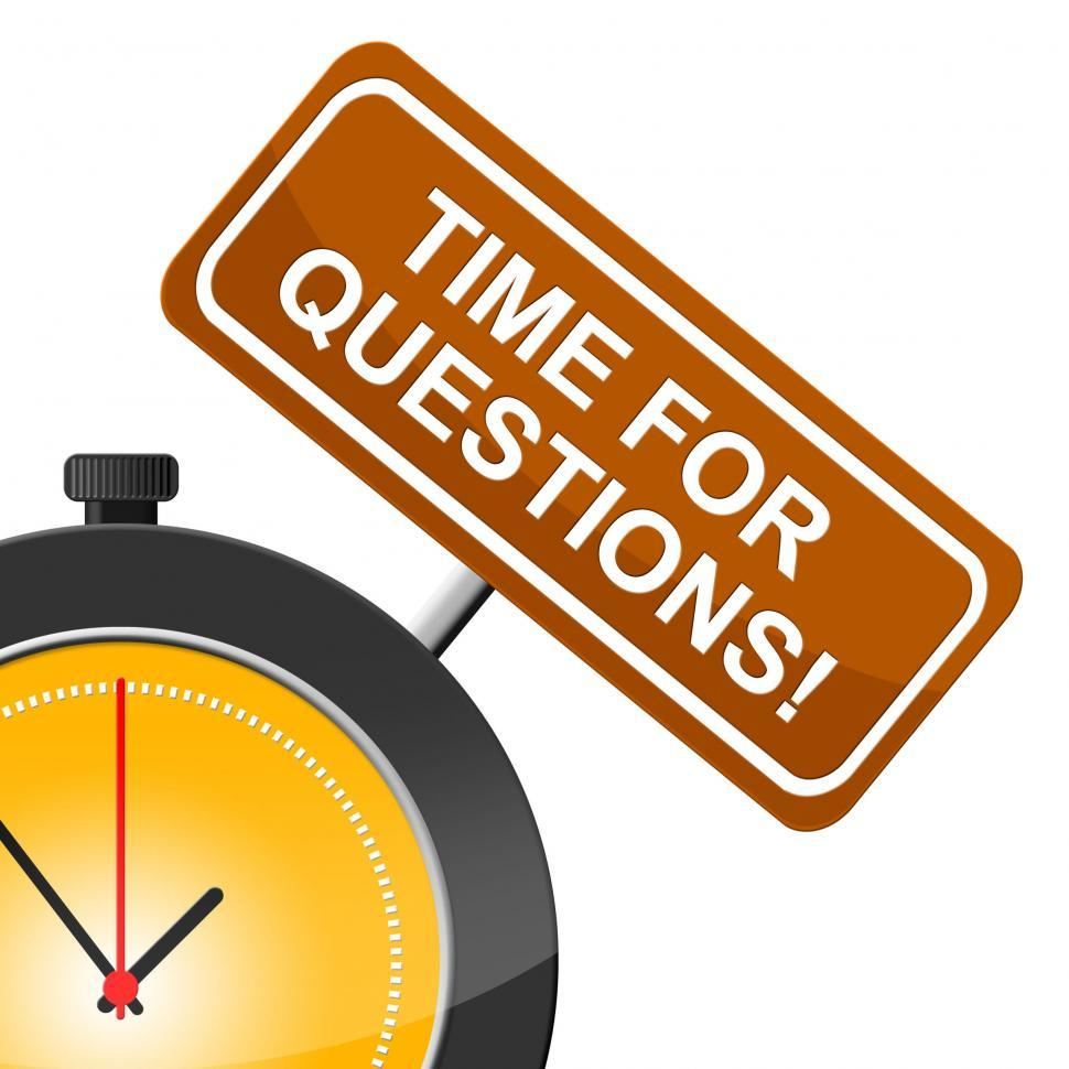 Download Free Stock HD Photo of Time For Questions Shows Frequently Questioning And Help Online