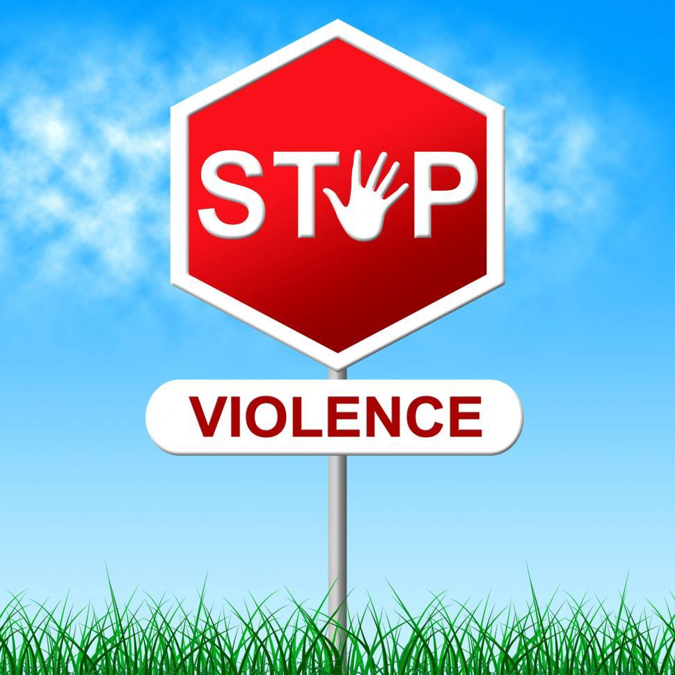 Download Free Stock HD Photo of Stop Violence Means Brute Force And Caution Online