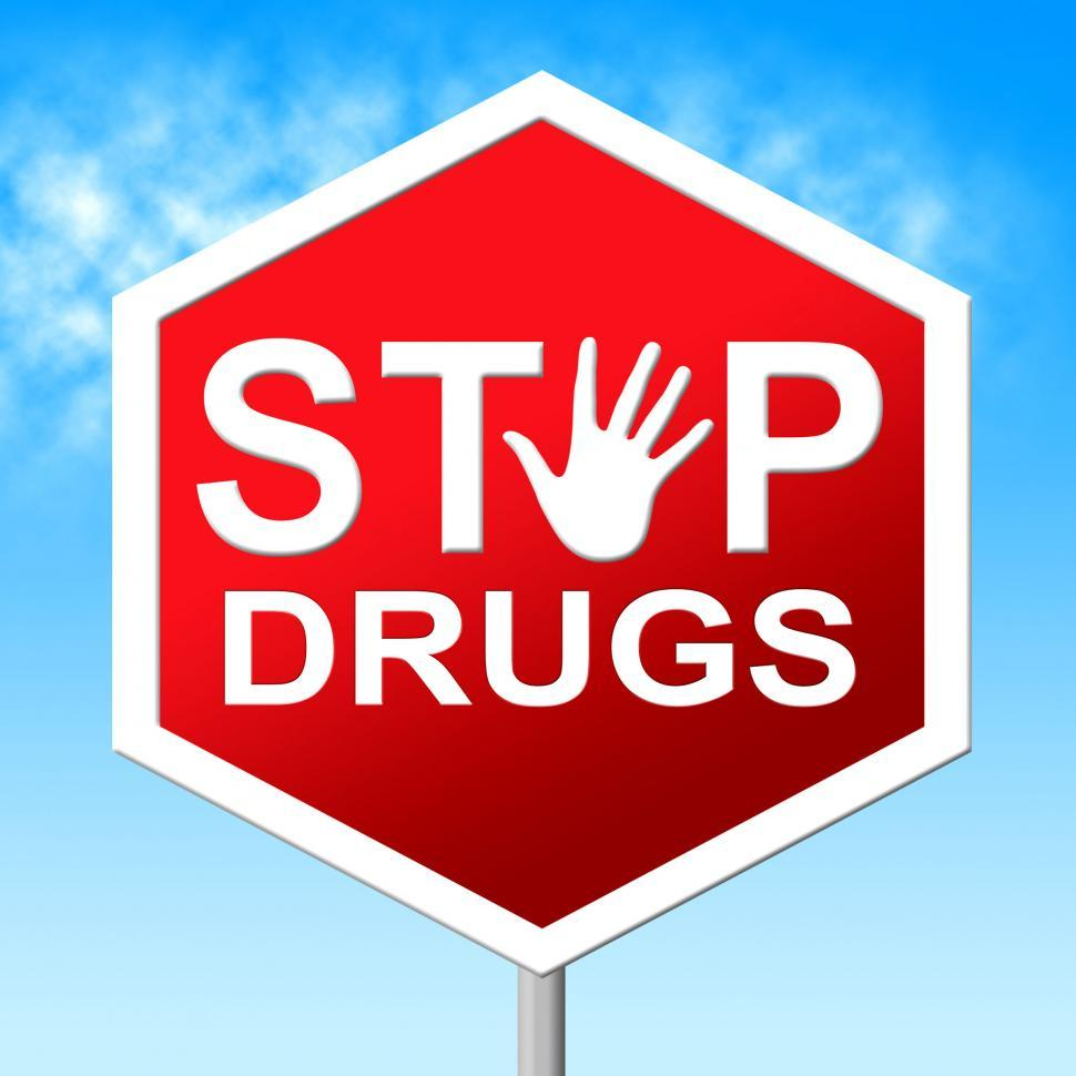 Download Free Stock Photo of Drugs Stop Means Rehab Junkie And Cannabis
