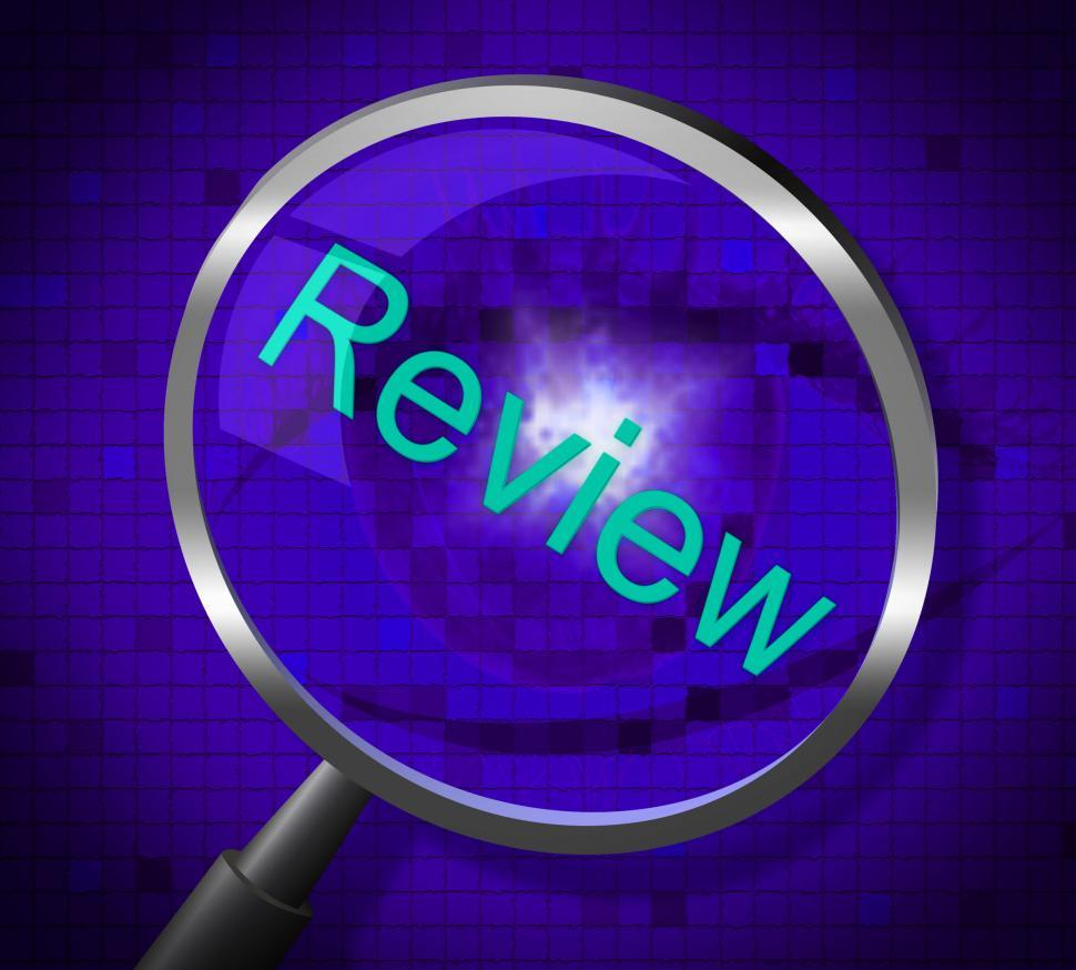Download Free Stock HD Photo of Magnifier Review Represents Magnifying Research And Evaluating Online