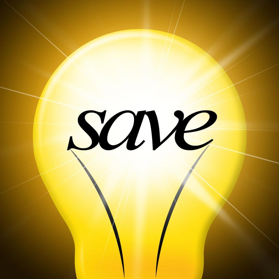 Download Free Stock Photo of Save Lightbulb Represents Saved Cash And Lamp