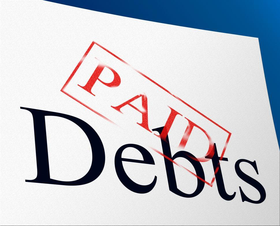 Download Free Stock HD Photo of Paid Debts Means Indebtedness Arrears And Pay Online
