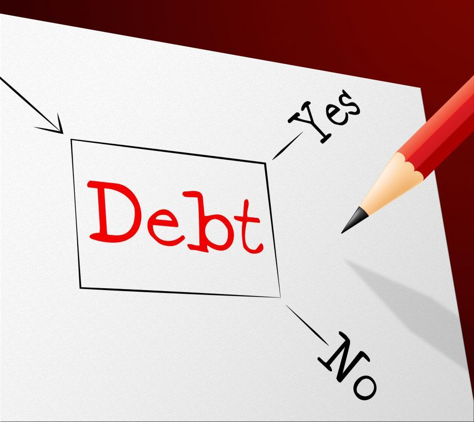 Download Free Stock HD Photo of Debt Choice Shows Financial Obligation And Arrears Online