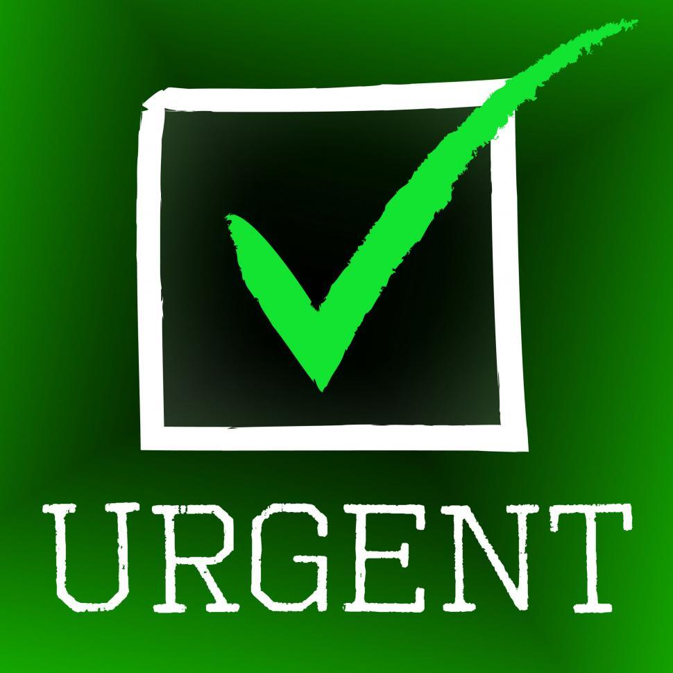 Download Free Stock Photo of Urgent Tick Represents Imperative Confirm And Mark