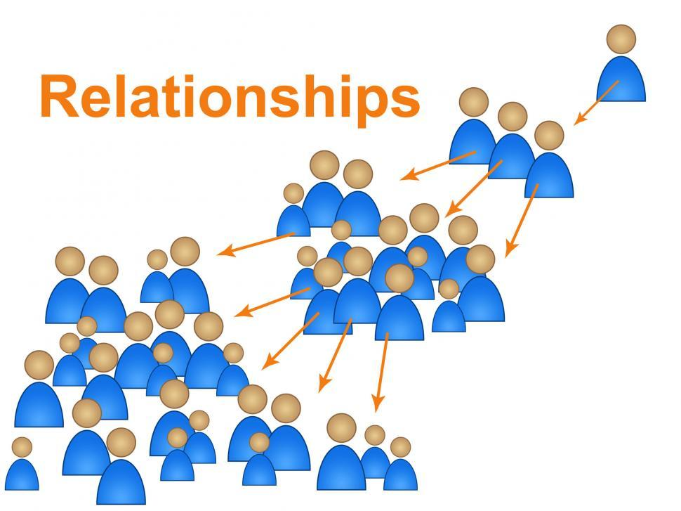 Download Free Stock Photo of Relationships Network Represents Social Media Marketing And Comm