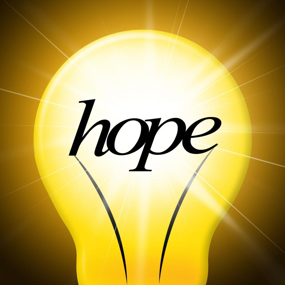 Download Free Stock HD Photo of Hope Lightbulb Represents Want Wishes And Wants Online