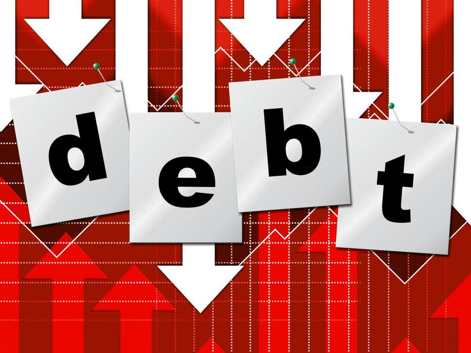 Download Free Stock HD Photo of Debts Debt Shows Liability Financial And Owning Online