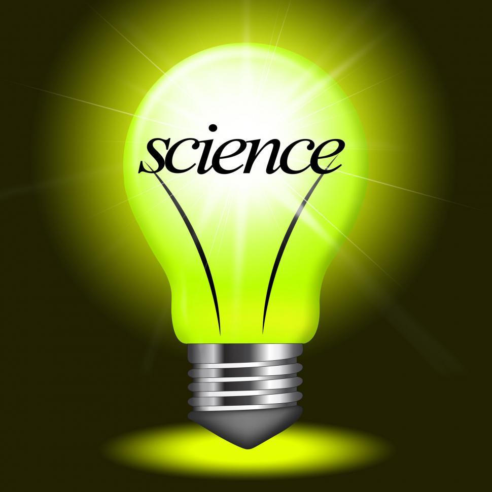Download Free Stock Photo of Science Lightbulb Shows Chemistry Physics And Formulas