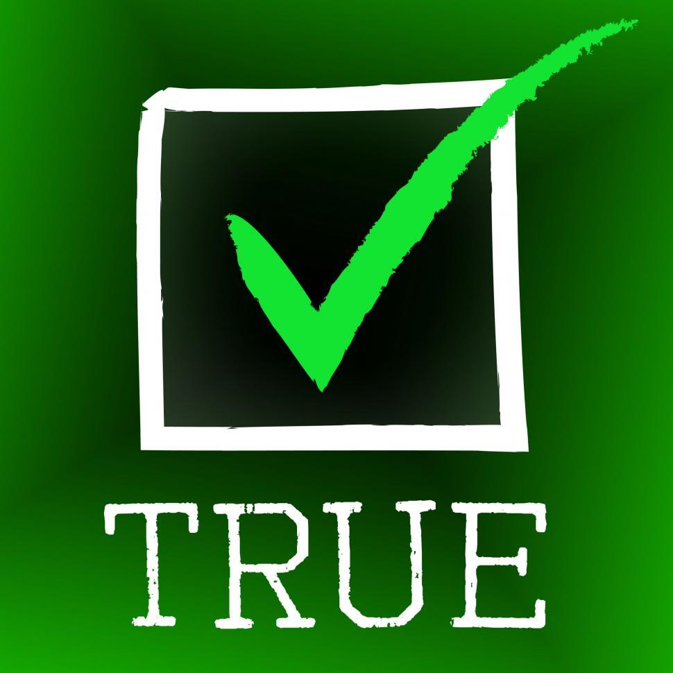 Download Free Stock HD Photo of Tick True Represents In Truth And Accurate Online