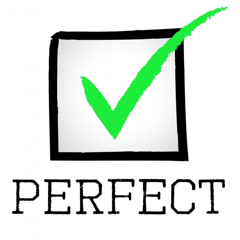 Download Free Stock HD Photo of Tick Perfect Means Number One And Approved Online