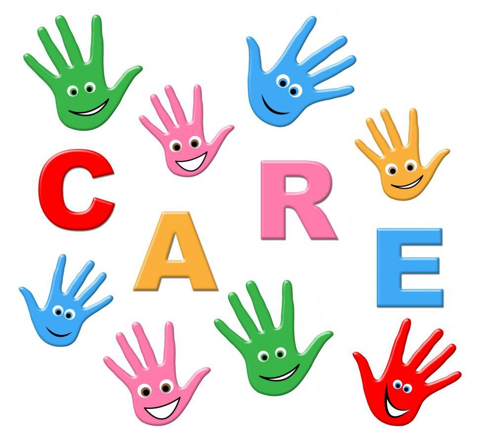 Download Free Stock HD Photo of Kids Care Means Look After And Children Online
