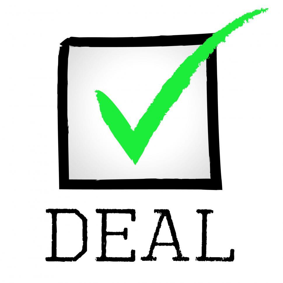 Download Free Stock Photo of Tick Deal Means Hot Deals And Bargain