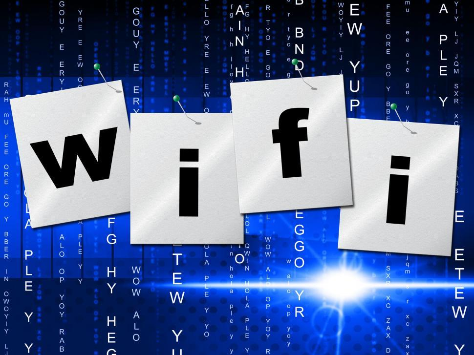 Download Free Stock HD Photo of Wifi Connection Shows Computer Transmission And Access Online