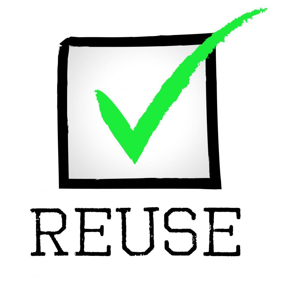 Download Free Stock Photo of Reuse Tick Indicates Eco Friendly And Check