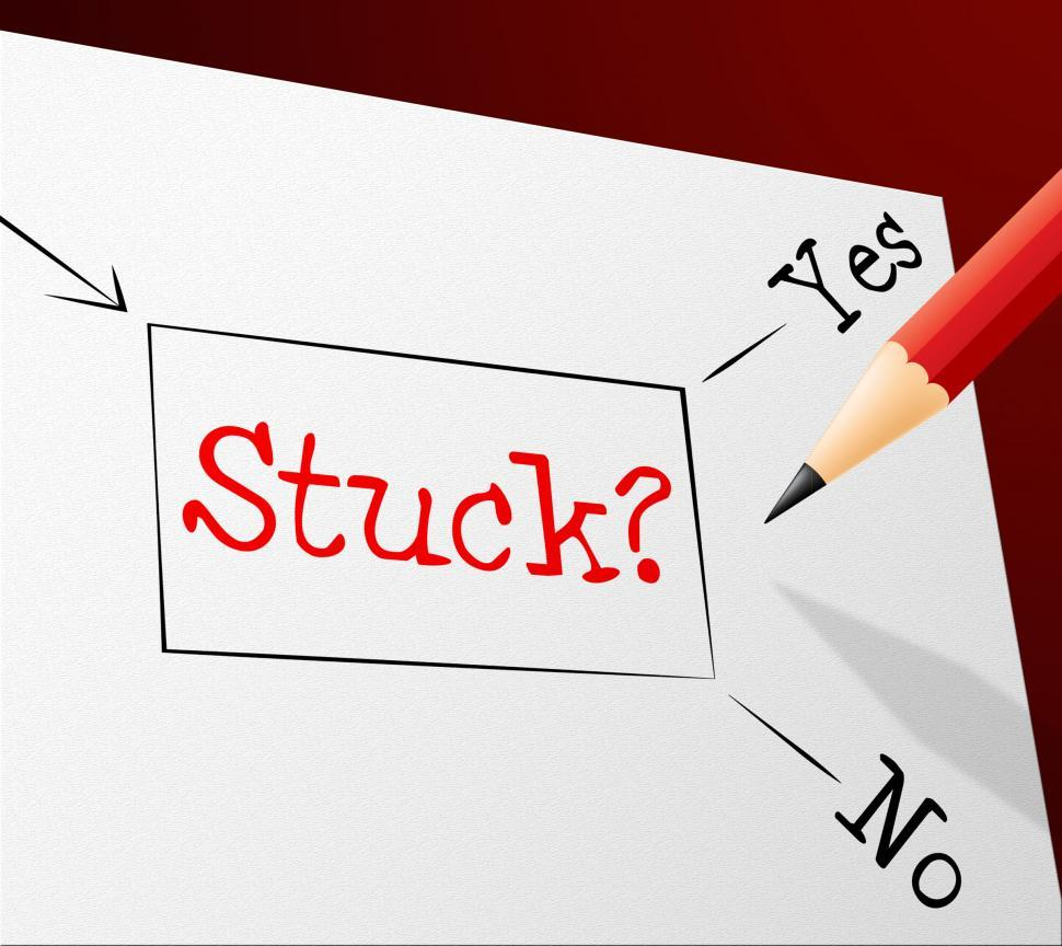 Download Free Stock HD Photo of Stuck Choice Shows Trapped Confusing And Option Online