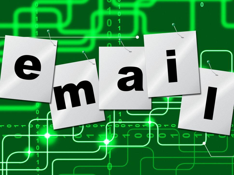 Download Free Stock HD Photo of Emails Email Shows Send Message And Correspond Online