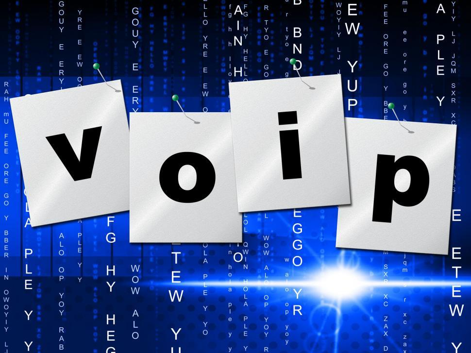 Download Free Stock HD Photo of Voip Communication Represents Internet Telephony And Communicate Online