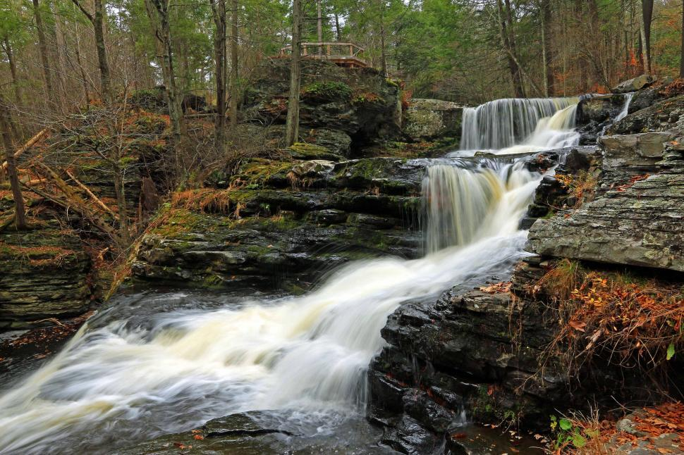 Download Free Stock Photo of Factory Falls at George W. Childs Recreation Site. PA