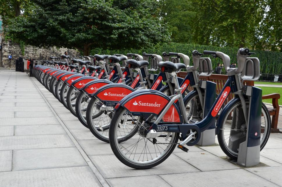 Download Free Stock Photo of Bicycles in London